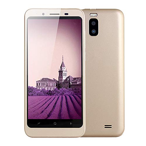 samLIKE Handy Dual SIM Smartphone Günstig Ohne Vertrag 512MB + 4GB GSM mit 4,7 Zoll Ultra-HD Bildschirm Ultradünn Dual Core Android 4,4 Cell Phone mit Dual Rückkamera, 3G + WLAN (Gold) 3g Dual Core