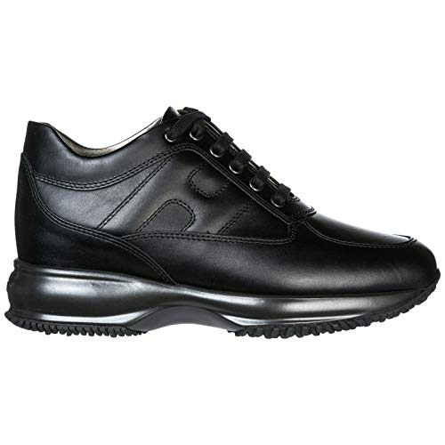 Hogan Scarpe Sneakers Donna in Pelle Nuove Interactive Nero EU 38 HXW00N00010HQKB999