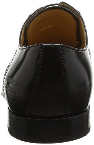 Melvin & Hamilton Austin 3, Chaussures de ville homme Noir (Brush Black Hrs)