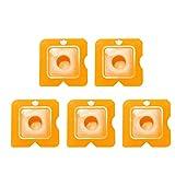 UKCOCO Kit di utensili sigillante 5 pezzi Kit guarnizioni di calafataggio Kit di sigillante sigillante Strumenti di finitura sigillante Sigillante Finitura Raschiatore Raschiatore (giallo)