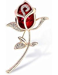 f63d7efe3b2 Stockton Women  s Brooch Pin Crystal Rhinestone Rose Flower Brooch