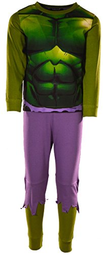 laylawson Jungen The Hulk 100% Baumwolle Lange Ärmel Pyjamas PJ Nachtwäsche[5-6 Jahre][Gr?n] (Pj Herren Baumwolle)