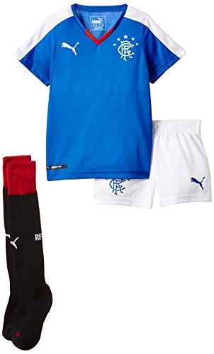 PUMA Jungen Trikot Rangers Home Minikit with Socks, Puma Royal, White, 92, 747849 01 (Trikot Fußball Rangers)