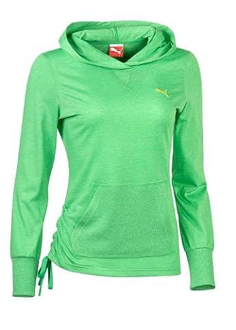 Puma Lightweight Coverup T-shirt à manches longues top M Vert - island green heather