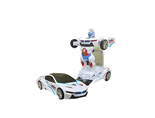 Olly Polly high quality imported kids with 3D lightings RC Autobots Deformation Transformer One-Touch Transforming Car sensor - Big Size