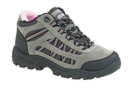Dek - Stivali da trekking per donna, taglie varie, colore rosa/grigio, Grigio (grigio), 41.5 (8 UK)