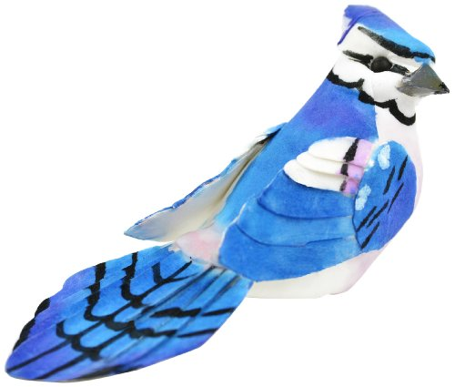Midwest Design Vogel Pilz mit Clip, mehrfarbig, 4-Zoll