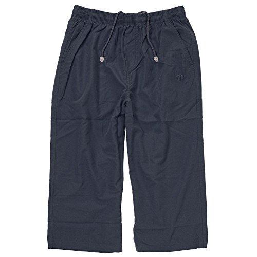 Pantalon de sport capri microfibre bleu foncé d'Ahorn sport grandes tailles jusqu'à 10 XL, Taille:10XL