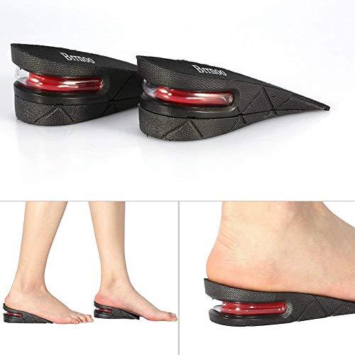 Plantillas de aumento Plantillas Altura 1 par de Camel Unisex 5 cm talón Invisible levantar almohadilla de zapatos
