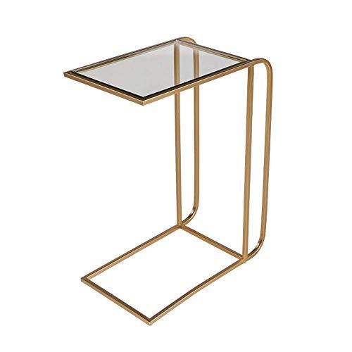 BJYG Klapptisch Sofa Beistelltisch, Wohnzimmer, Schlafzimmer oder Esszimmer, Couchtisch/Snack-Tisch (Farbe: Gold) -