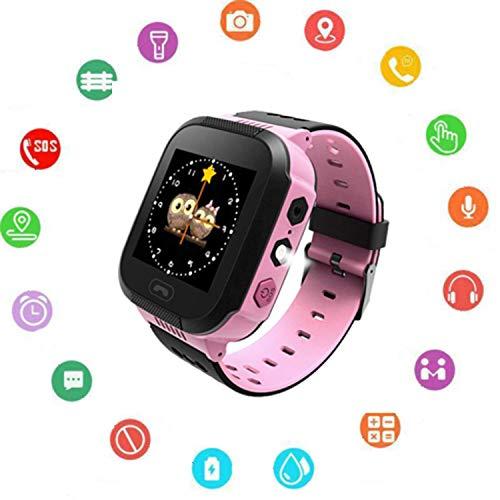 Kinder SmartWatch Phone Smartwatches mit SOS Voice Chat Kamera Taschenlampe Wecker Digitale Armbanduhr Smartwatch Girls Boys Birthday (02 Uhr Pink) T-mobile Quad-band
