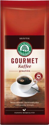 Lebensbaum Gourmet Kaffee, kräftig, gemahlen, 2er Pack (2 x 500 g)