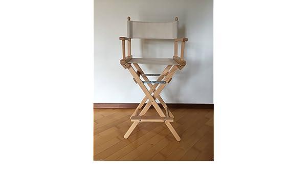Sedia regista alta pieghevole sedia make up truccatrice sedia