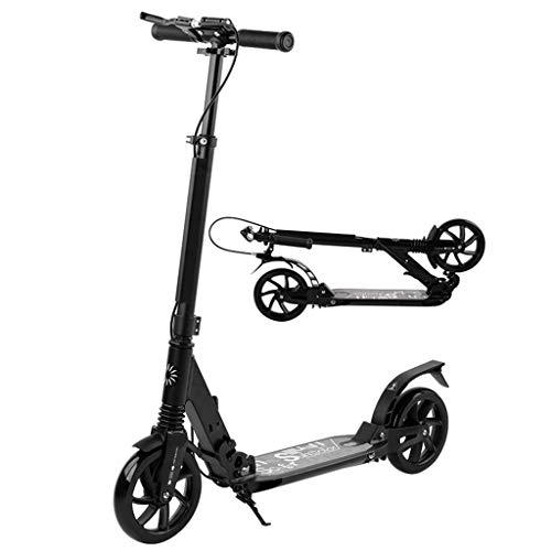 Adult Kick Scooter Handbremse Dual Suspension Faltgleiter Deluxe Aluminium 2 große Räder, höhenverstellbar, unterstützt 100 kg