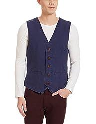 U.S.Polo.Assn. Mens Cotton Waistcoat (8907163937322_USVC0004_L _Ochre)
