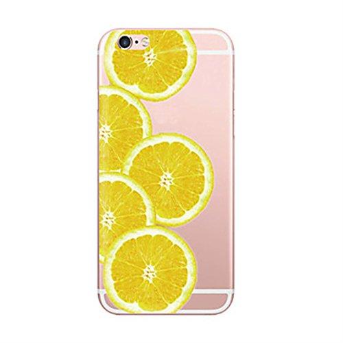 Inonler Sommer früchte Gelb - Orange köstlichen saft transparenten silikon tpu Muster hülle für iphone 7 (4,7