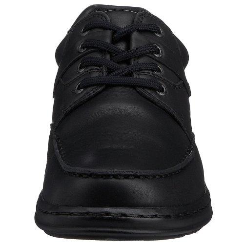Hush Puppies Randall, Scarpe con le stringhe uomo nero (Black Leather)