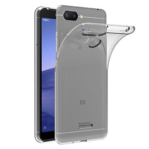 iVoler Funda Carcasa Gel Transparente para Xiaomi Redmi 6 / Xiaomi Redmi 6A, Ultra Fina 0,33mm, Silicona TPU de Alta Resistencia y Flexibilidad