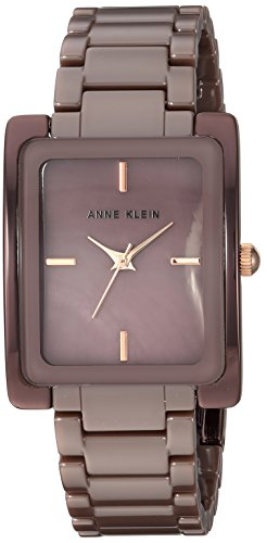 Anne Klein Women's AK/2953MVPR Mauve Ceramic Bracelet Watch