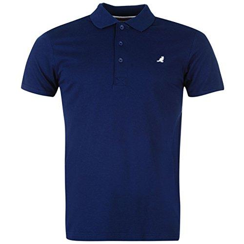 Kangol Herren Slim Fit Polo Poloshirt T Shirt Gerippt Kragen Kurzarm Tee Top XL (Tank Baseball-ribbed Top)