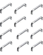 A & Y Traders Stainless Steel Oval D-Drawer/Cabinet Handles (6-inch) - Pack of 12