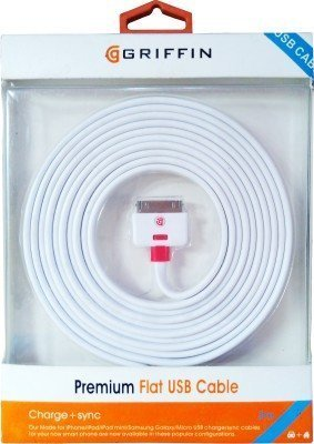 The saviour High Speed USB to 30 Pin Charging and Data Sync Cable For iPhone 4, 4S, iPod, iPad 1 & 2 - 1 Meter  available at amazon for Rs.169