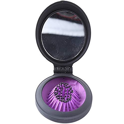 Peine plástico plegable portátil espejo Cepillo