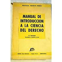 Manual de introducción a la ciencia del derecho