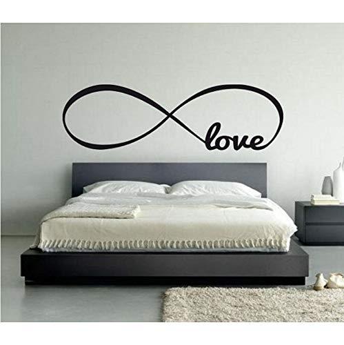 Personalisierte Infinity Symbol Liebe Schlafzimmer Wandtattoo Zitate Vinyl Wandaufkleber Schmetterlinge Zitat Aufkleber (Lieben, Infinity-wandtattoos Den Sie Um)