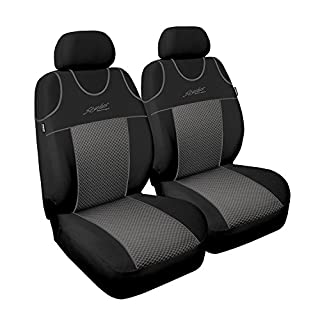 Saferide | Universal Grau Sitzbezüge Sitzbezug für Auto Sitzschoner Set Schonbezüge Autositz Autositzbezüge Sitzauflagen Sitzschutz Stylus P3