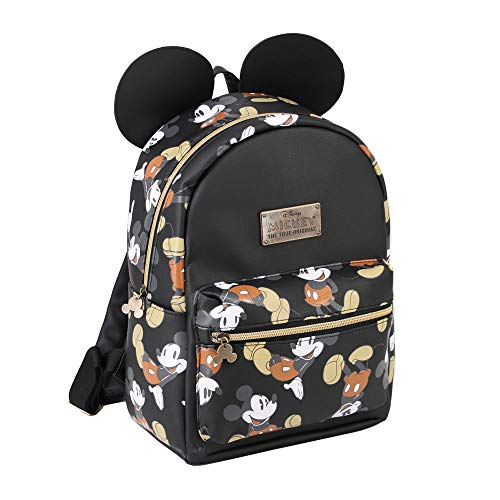 Karactermania Mickey Mouse True-mochila Fashion Zaino Casual, 31 cm, 13 liters, Nero (Negro)