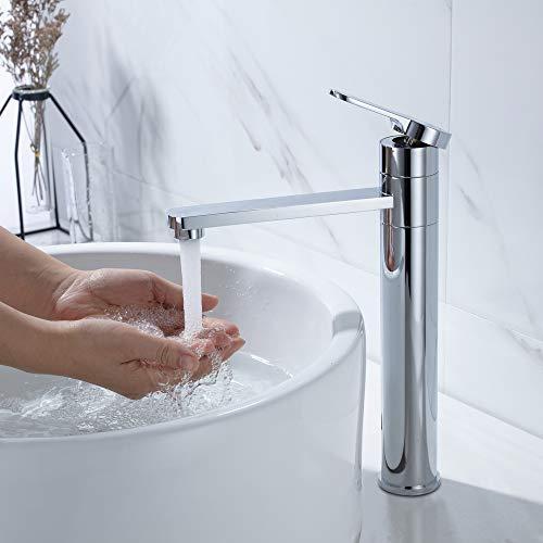 Umi. by Amazon - hoch Wasserhahn Waschbecken Armatur Bad Einhebelmischer Badarmatur Waschtisch Mischbatterie Waschbeckenarmatur