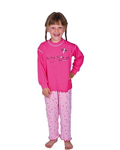 2 tlg. Kinder Schlafanzug Pyjama Kinderschlafanzug Schmetterling Farbe Rosa 100% Baumwolle Größe 92 - 116 Größe 98