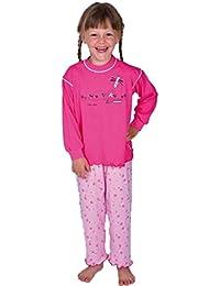 2 tlg. Kinder Schlafanzug Pyjama Kinderschlafanzug Schmetterling Farbe Rosa 100% Baumwolle Größe 92 - 116 Größe 116