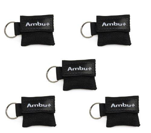 5x AMBU LifeKey Schlüsselanhänger Beatmungsmaske in schwarz