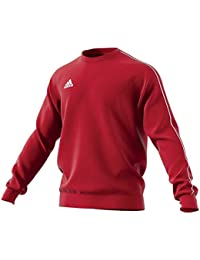 Adidas Core18 SW Top, Felpa Uomo, (Rosso/Bianco), S