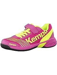 Kempa - Zapatilla Kempa Attack One Jr, talla 28, color Magenta/Amarillo fluo