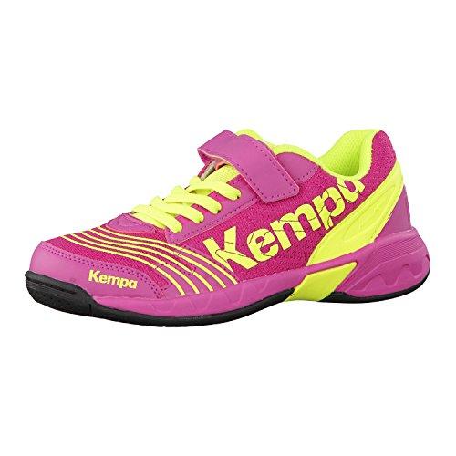 Kempa - Attack One, Scarpe da pallamano Unisex – Bambini magenta/fluo gelb