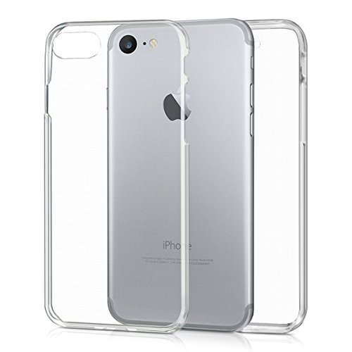 monjour Handyhülle für Apple iPhone 5 / 5s / SE Handy Voll Schutz Hülle [Klar] 360 Grad Full Cover Transparent Soft [TPU Silikon] Slim Weich Cover Case