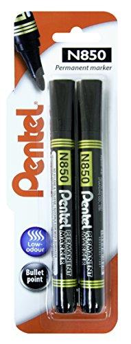 pentel-bullet-point-n850-marker-42mm-tip-black-ink-1-blister-card-with-2-markers