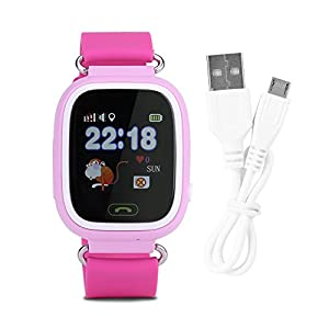 Zerodis Kinder Smartwatch Uhr Elektronische Armbanduhr GPS Tracker mit WiFi für Junge Mädchen Sicherheits