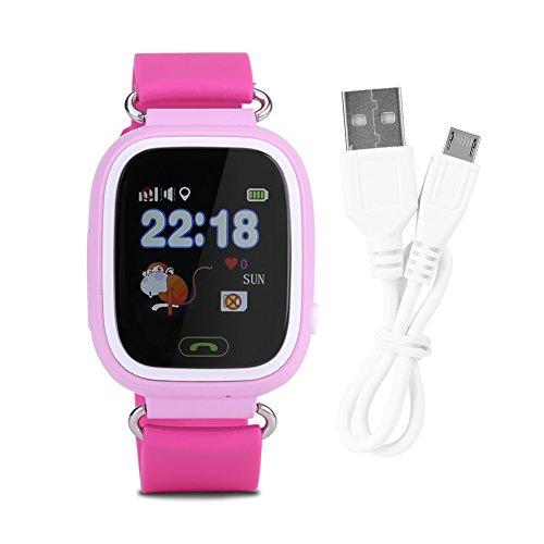Liukouu SOS Anti-Lost Watch Reloj de Pulsera Localizador GPS Bebé Seguro Niño con WiFi1