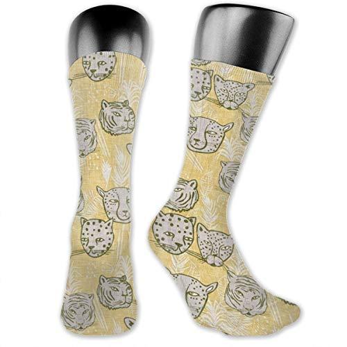 Fun Life Art Paradisio Big Cats MED Athletische Vollbesatzungs-Socken für Herren und Damen mit Kompressionsfuß im Fitnessstudio