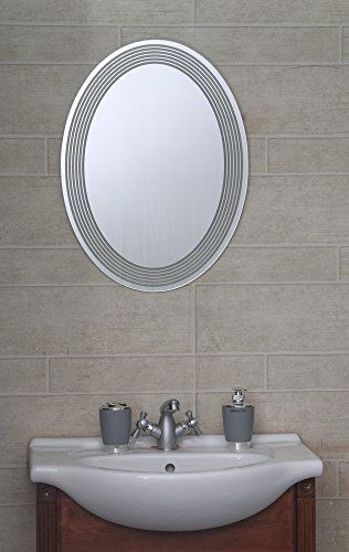 Bath boutique's Designer Bathroom Mirror Oval Linning wall Mount 18