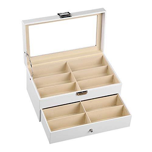 Sonnenbrillen-Organizer-Sammelbox Sonnenbrillen Vitrine Sunglass Eyewear Display Storage Case Tray für Brillen und Sonnenbrillen etc -