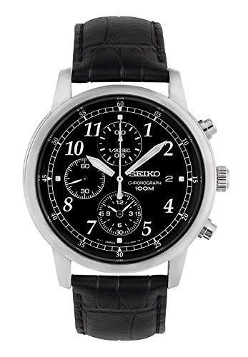 Seiko Montre Homme Chronographe Quartz avec Bracelet en Cuir - SNDC33P1