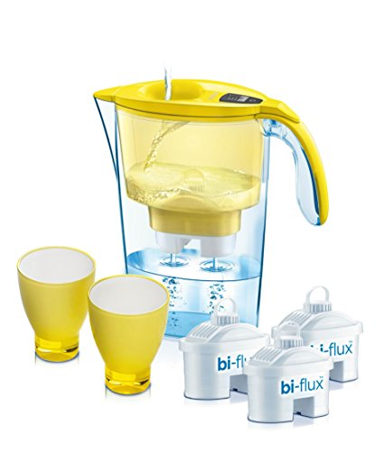 laica-water-filtration-kit-1-x-23-lt-jug-3-filters-bi-flux-2-stylish-colour-glasses