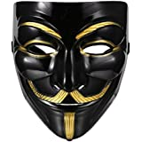 FAVELA Plastic Fawkes Mask Anonymous VIP Edition Face-Mask Perfect Fit Cosplay Protest V for Vendetta DC Comics (B07L5XKV3T)