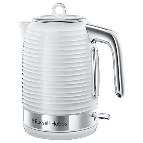 Russell Hobbs 24360–70–Hervidor de agua, 2400, brillante de plástico, 1.7L), color blanco