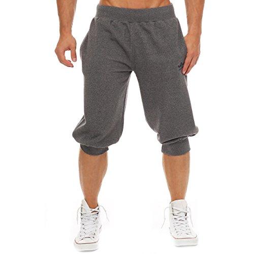 Finchman Capri Uomo Spugna, Pantaloni Capri, Pantaloncini, Shorts, Pantaloni a 3/4 Grigio scuro